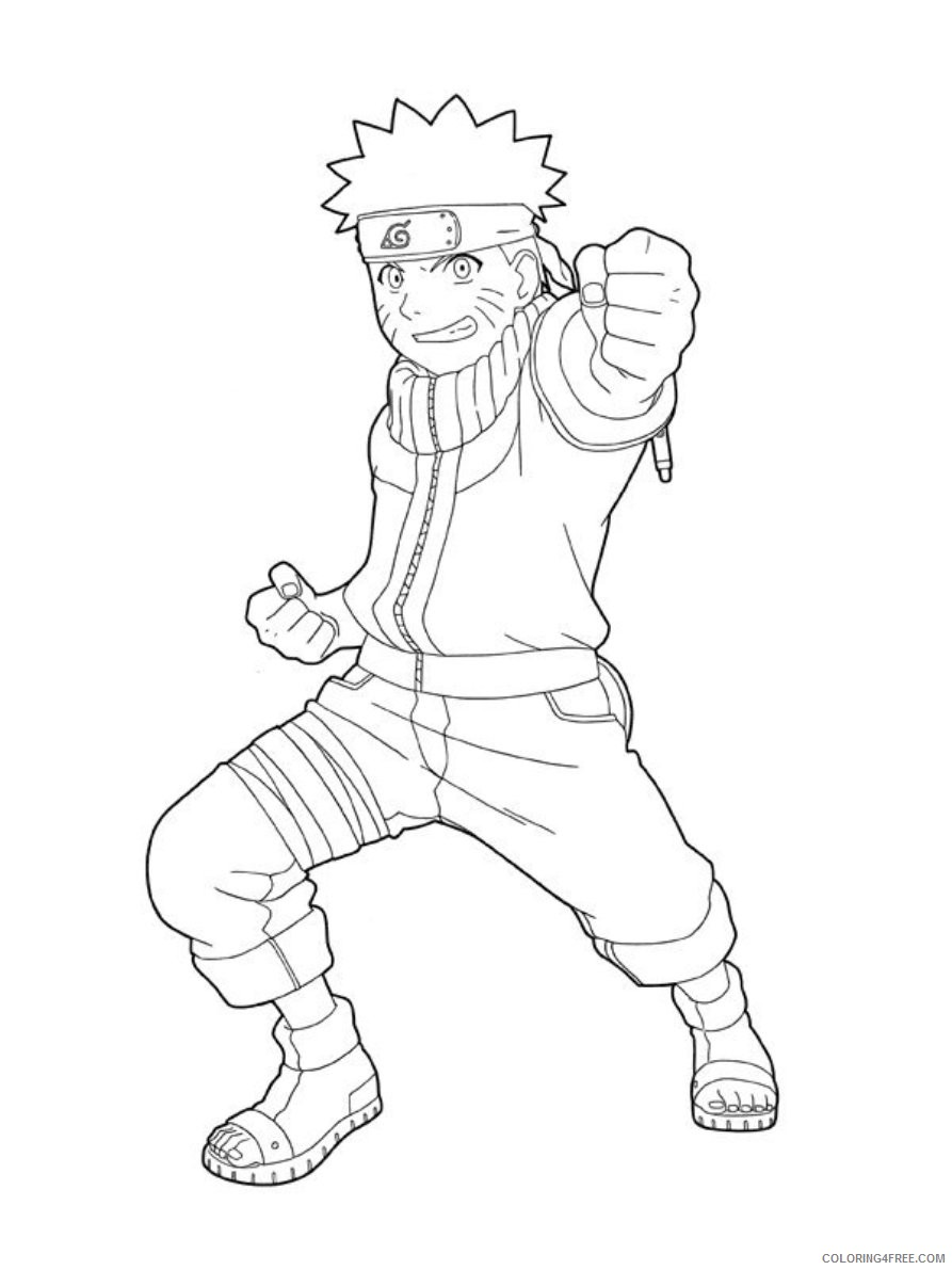 naruto coloring pages for kids Coloring4free