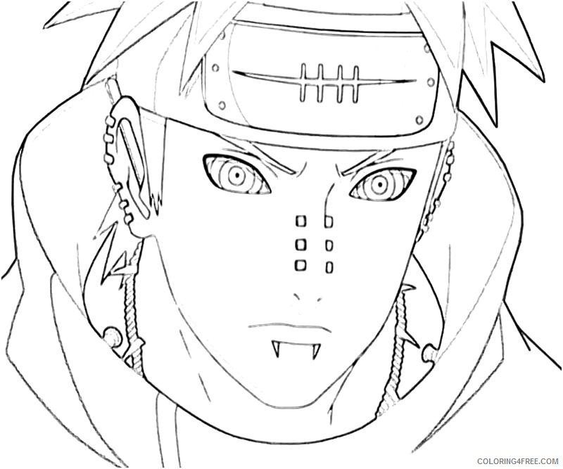 naruto coloring pages pain Coloring4free