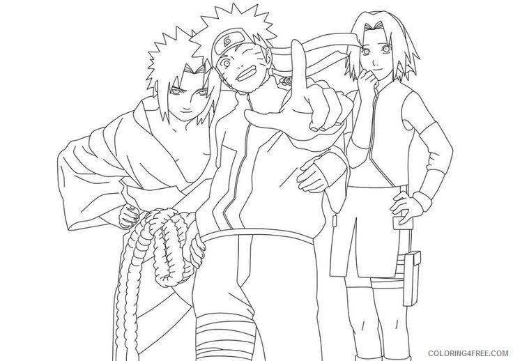 naruto coloring pages sasuke sakura Coloring4free