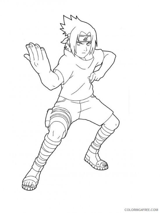 naruto coloring pages sasuke uchiha Coloring4free
