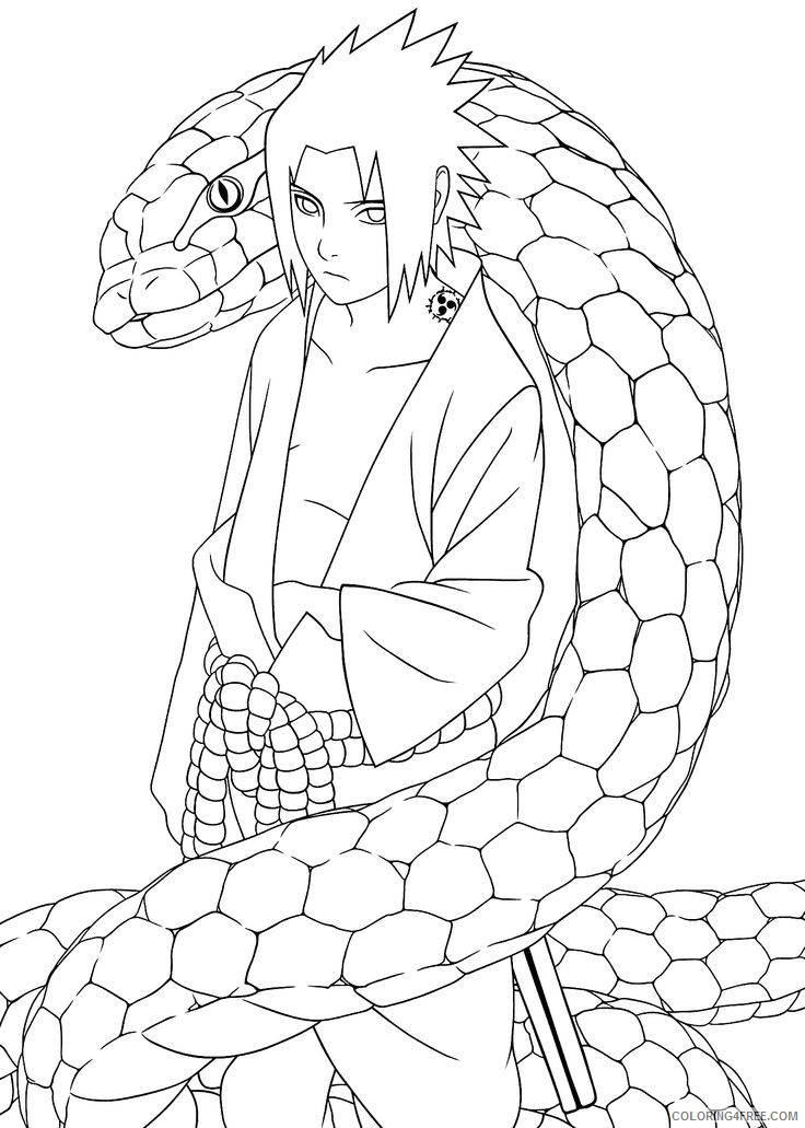 naruto coloring pages uchiha sasuke Coloring4free