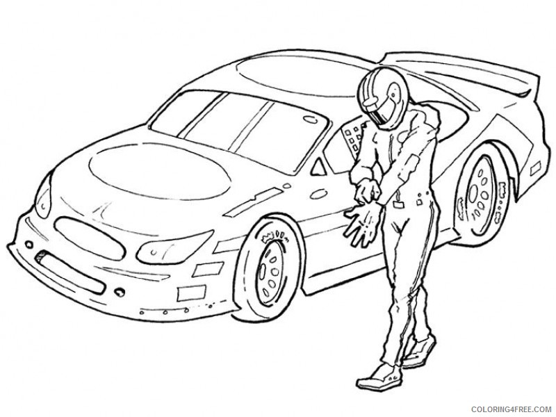 nascar coloring pages driver Coloring4free