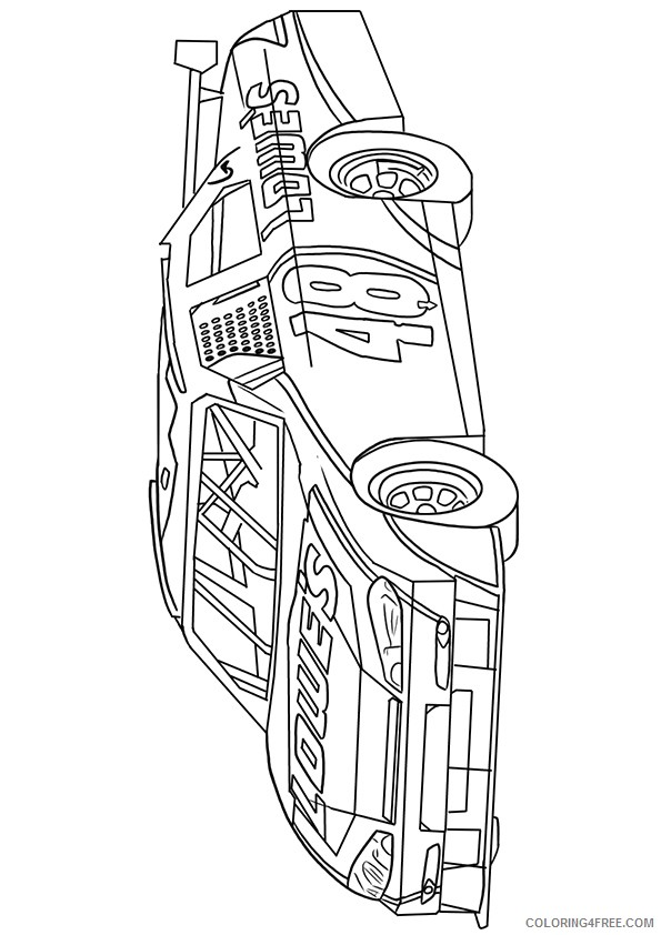nascar coloring pages number 48 Coloring4free