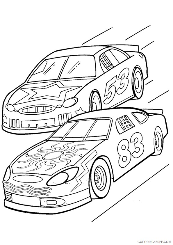 nascar coloring pages to print Coloring4free