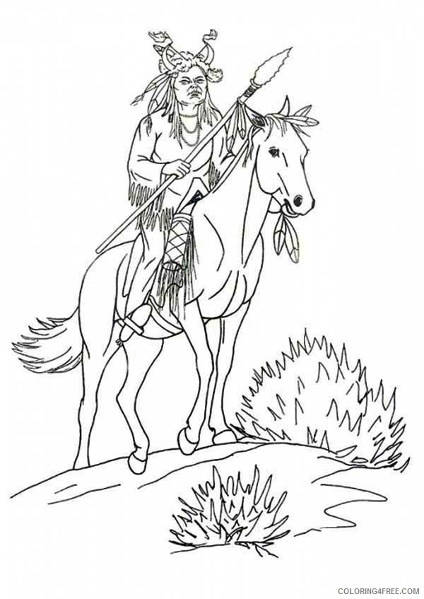 native american coloring pages for boys Coloring4free