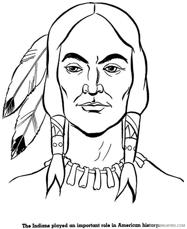 native american face coloring pages Coloring4free