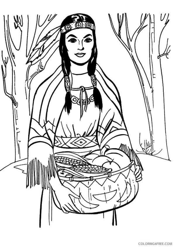 native american girl coloring pages Coloring4free