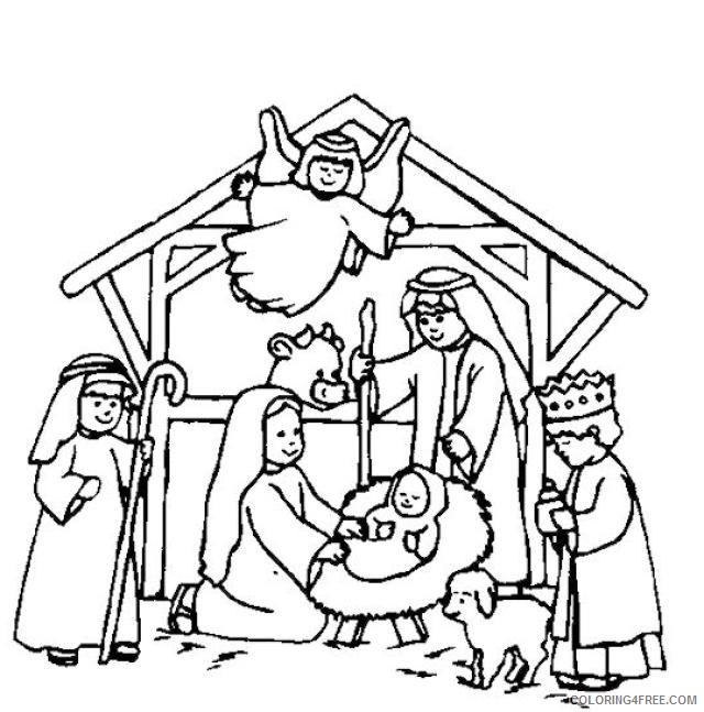 nativity coloring pages birth of jesus christ Coloring4free