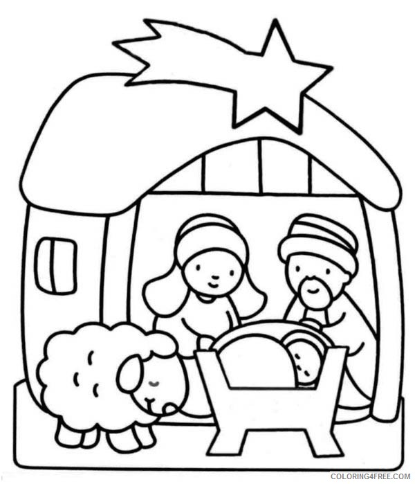 nativity coloring pages for toddler Coloring4free