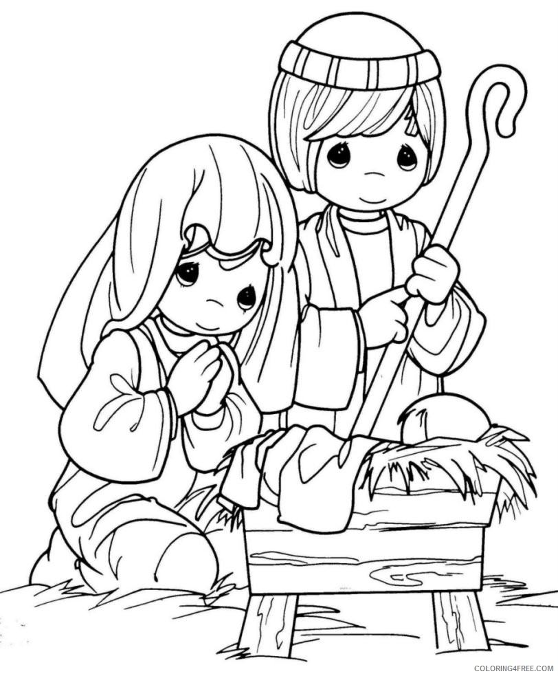 nativity coloring pages precious moments Coloring4free