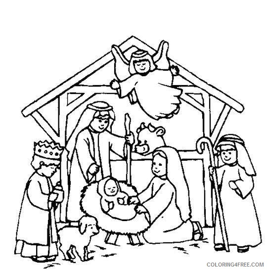 nativity coloring pages to print Coloring4free