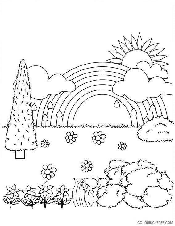 nature coloring pages for children Coloring4free