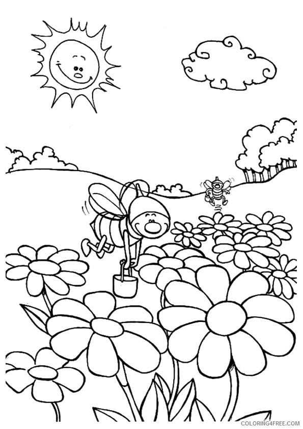nature coloring pages for kindergarten Coloring4free