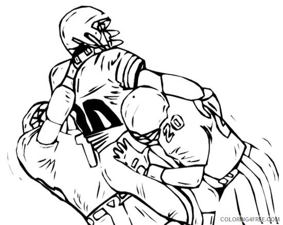 nfl football player coloring pages Coloring4free