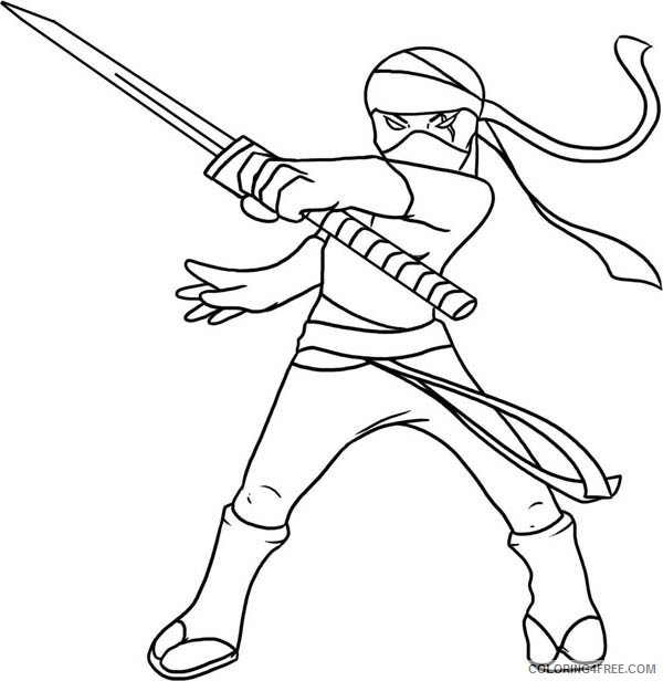 ninja coloring pages to print Coloring4free