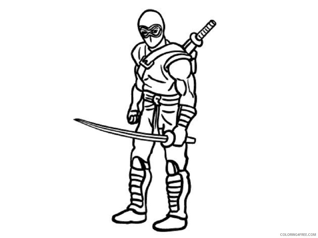 ninja coloring pages with sword Coloring4free