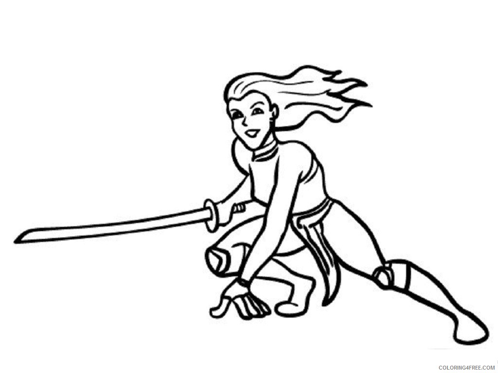 ninja girl coloring pages Coloring4free