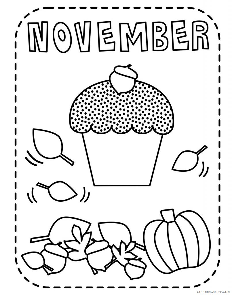 november coloring pages for kids Coloring4free