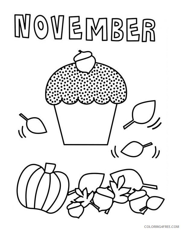 november coloring pages for kindergarten Coloring4free