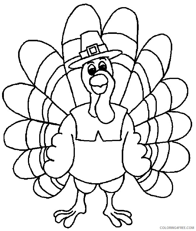 november coloring pages turkey Coloring4free