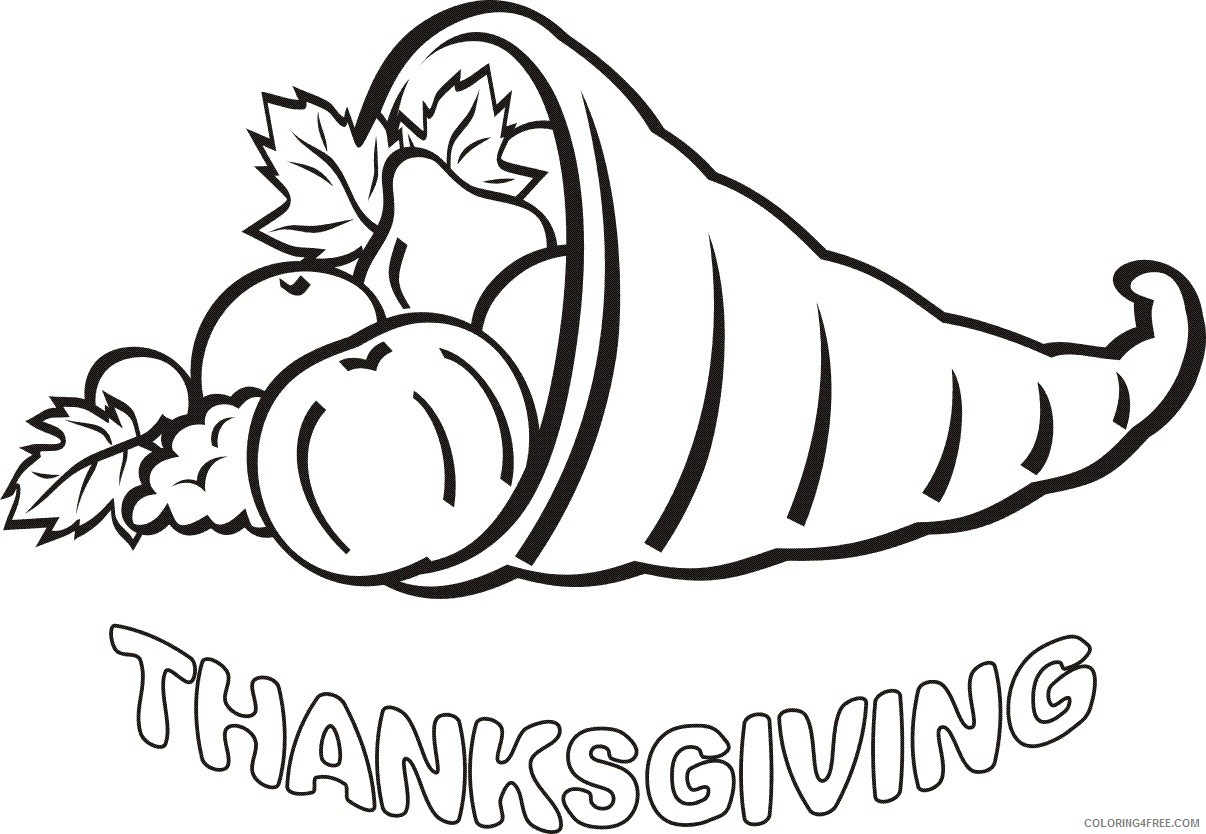 november thanksgiving coloring pages Coloring4free
