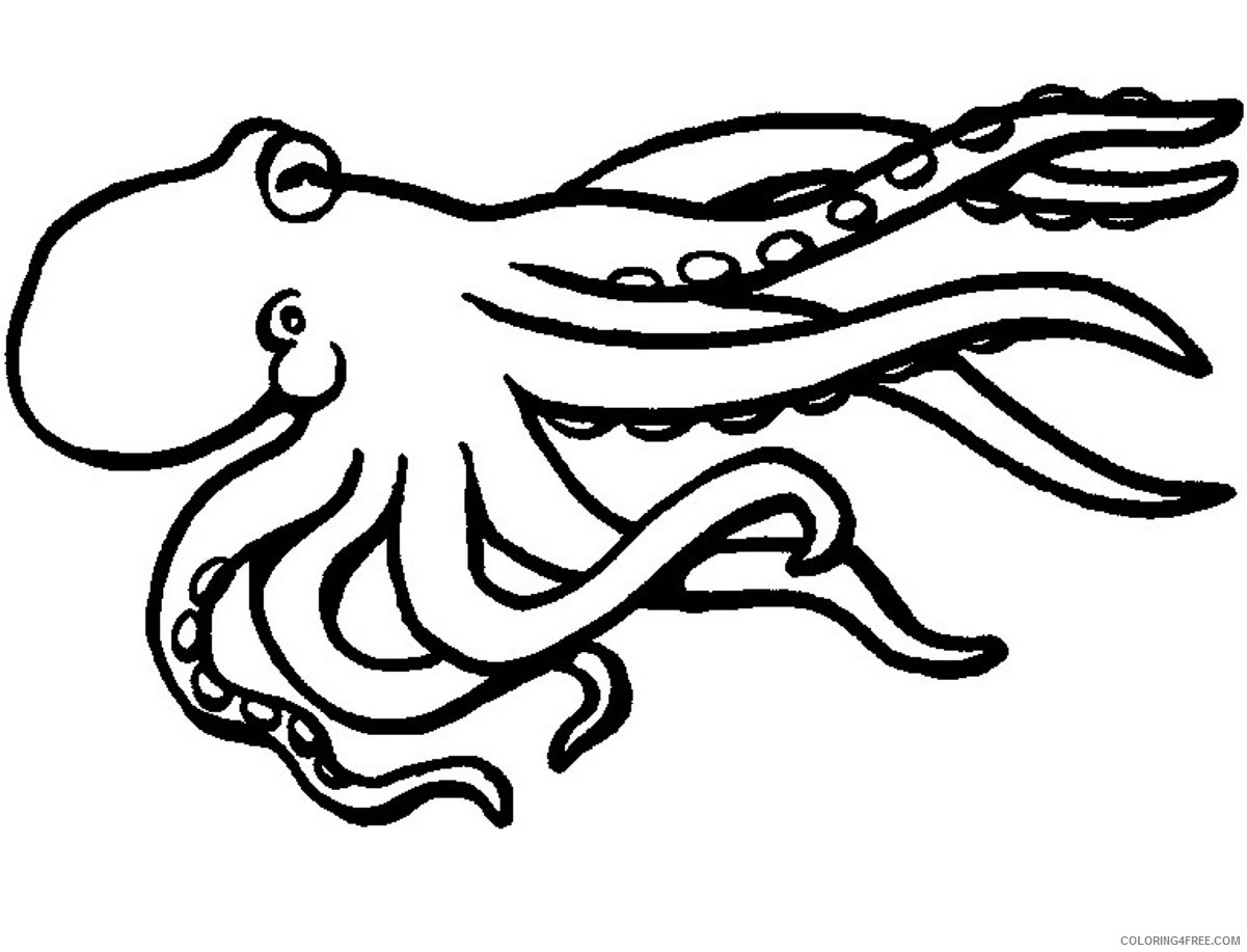 octopus coloring pages for children Coloring4free