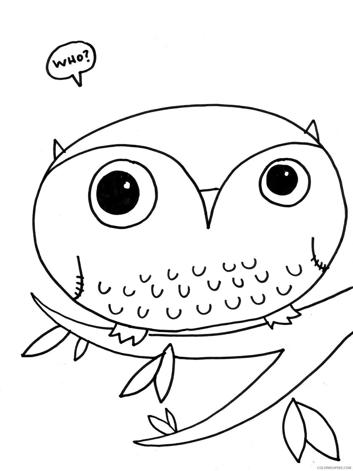 owl coloring pages for preschoolers Coloring4free
