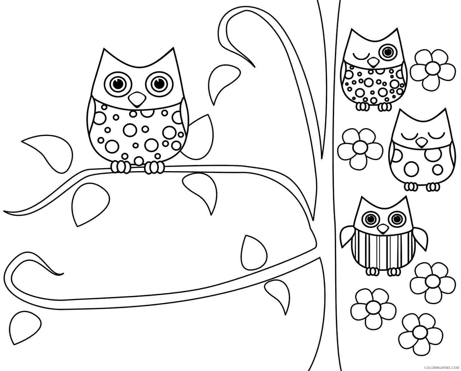 owl coloring pages printable for kids Coloring4free