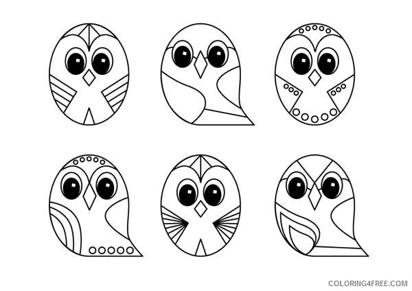 owl design coloring pages for kids Coloring4free