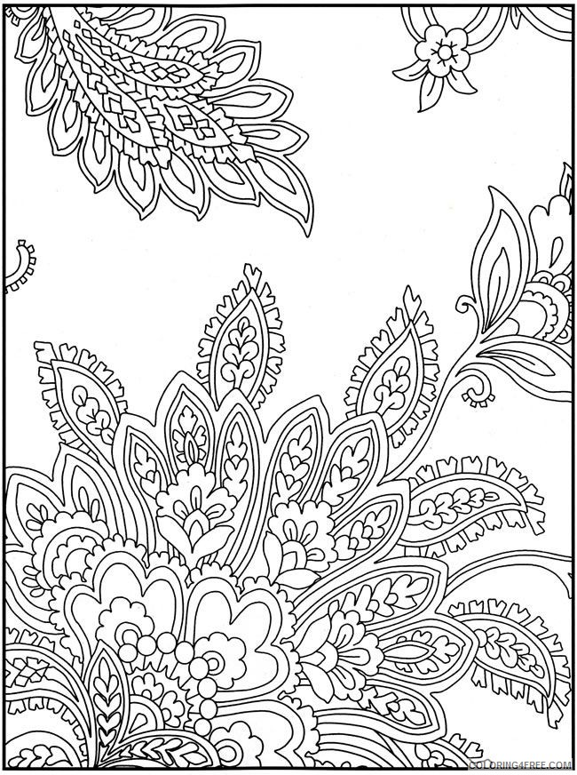 paisley design coloring pages Coloring4free
