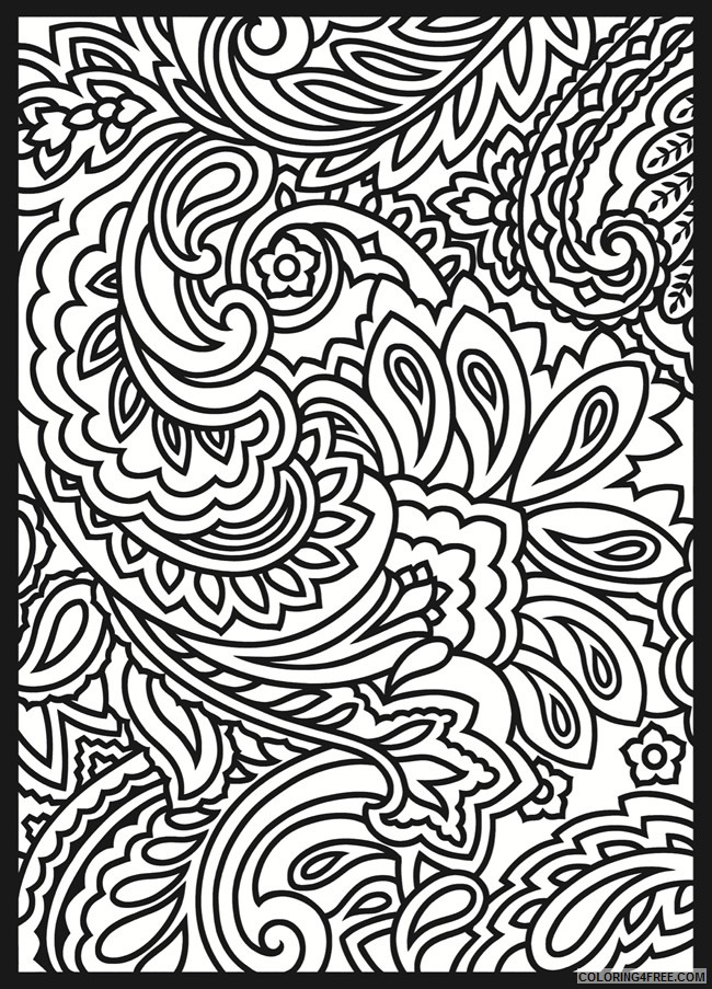 paisley design coloring pages for adults Coloring4free