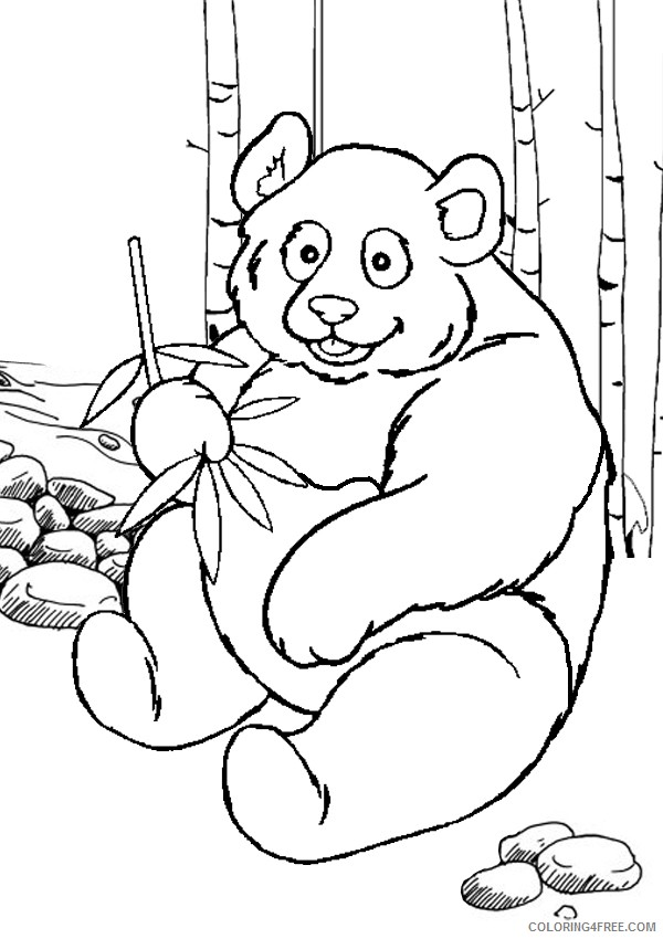 panda coloring pages to print Coloring4free