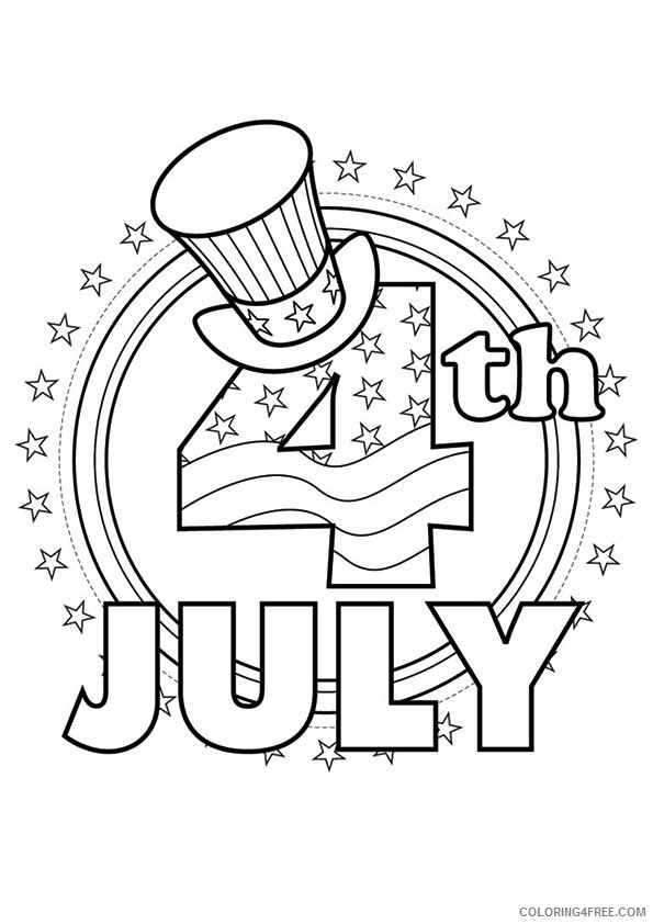 patriotic coloring pages 4th of july Coloring4free