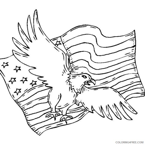 patriotic coloring pages american bald eagle Coloring4free