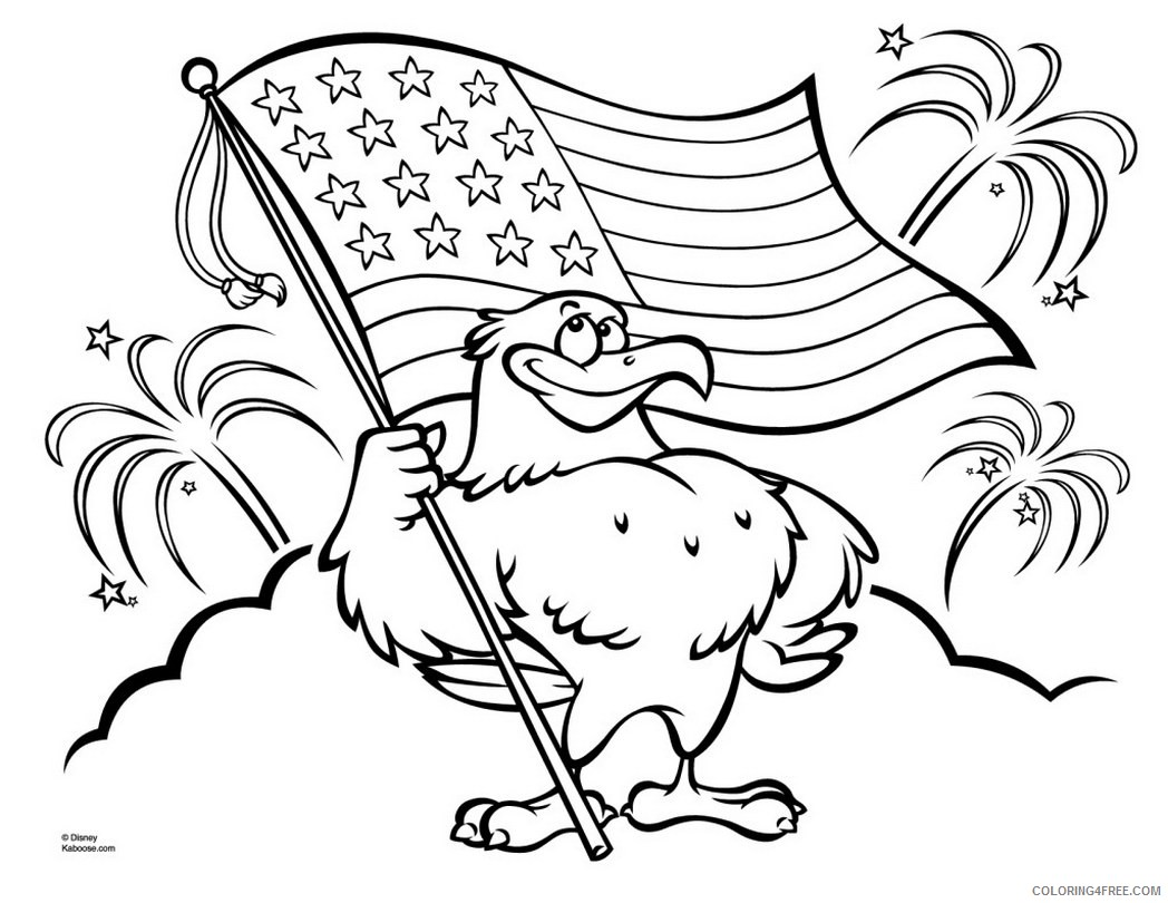 patriotic coloring pages eagle with american flag Coloring4free