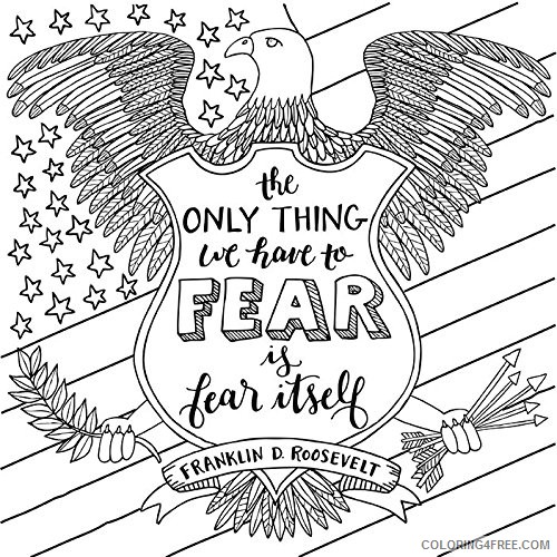 patriotic coloring pages free to print Coloring4free