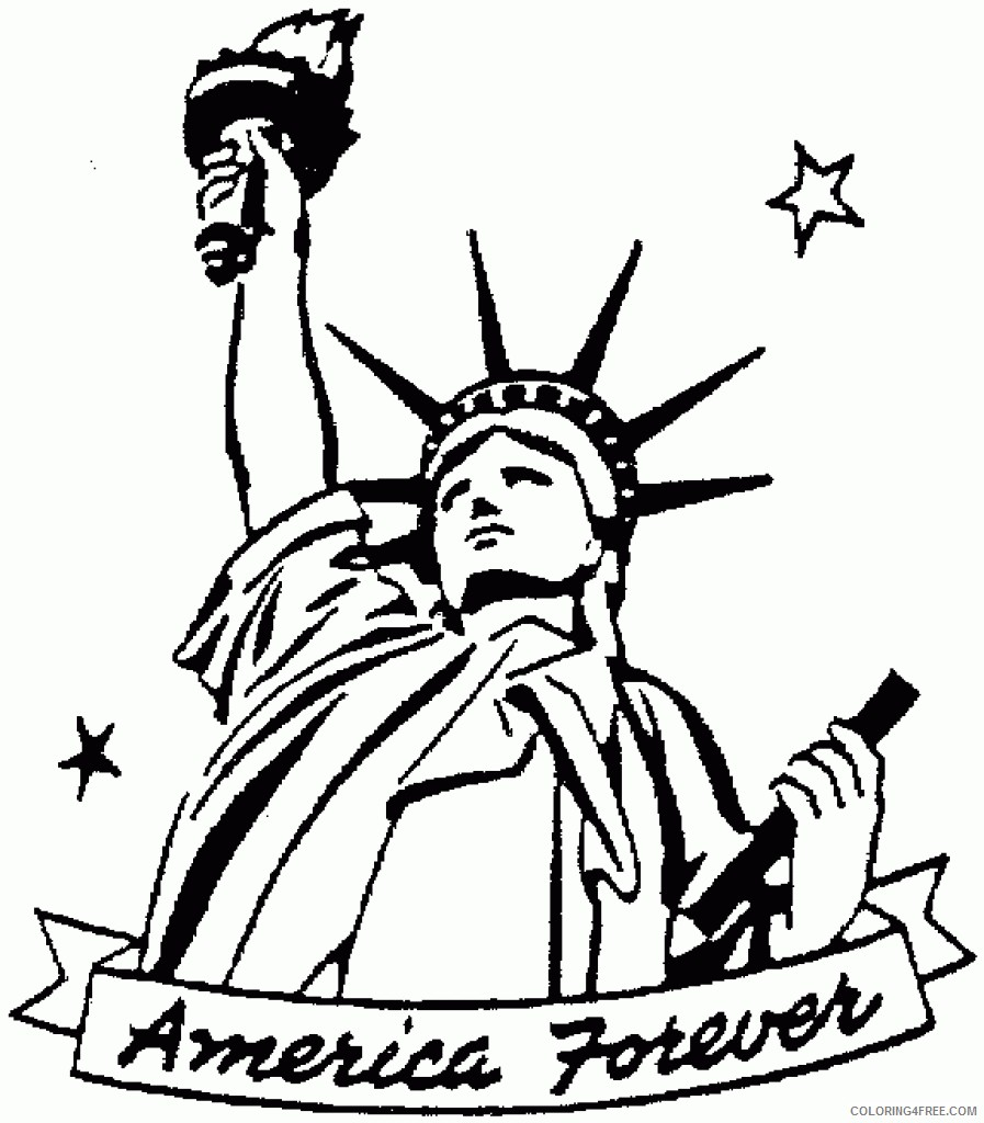 patriotic coloring pages statue of liberty Coloring4free
