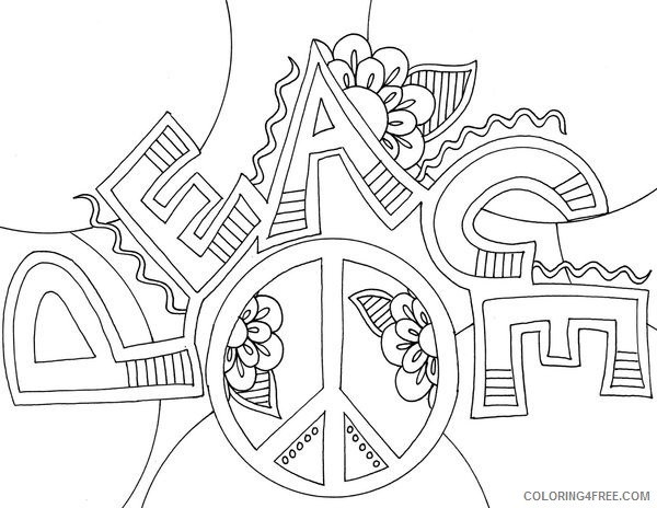 peace sign coloring pages for boys Coloring4free