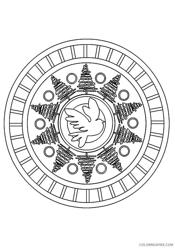 peace sign coloring pages mandala Coloring4free
