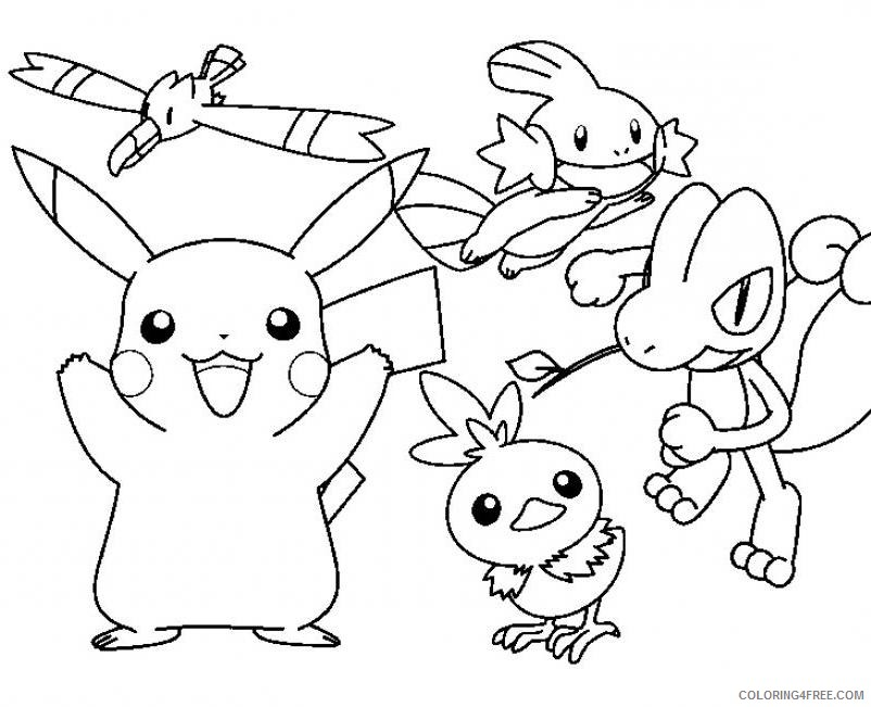 pikachu and friends coloring pages Coloring4free
