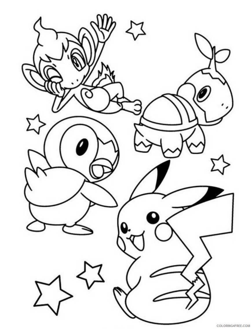 pikachu coloring pages and friends Coloring4free