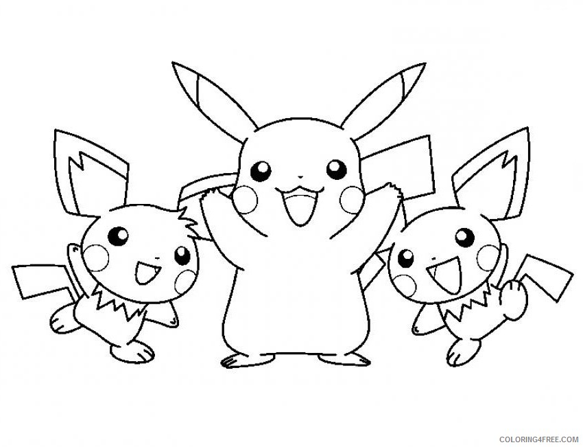 pikachu coloring pages and pichu Coloring4free