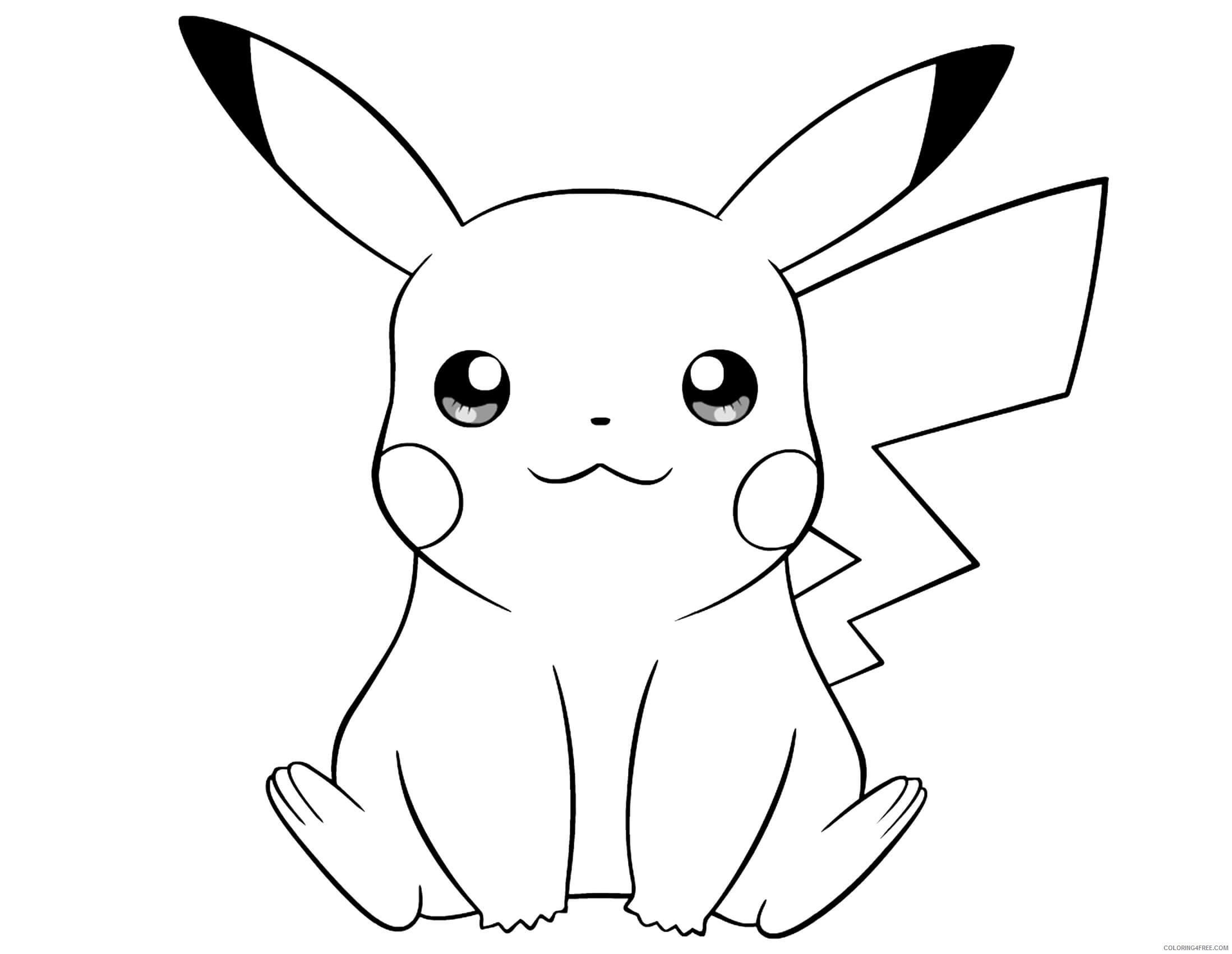 pikachu coloring pages cute Coloring4free
