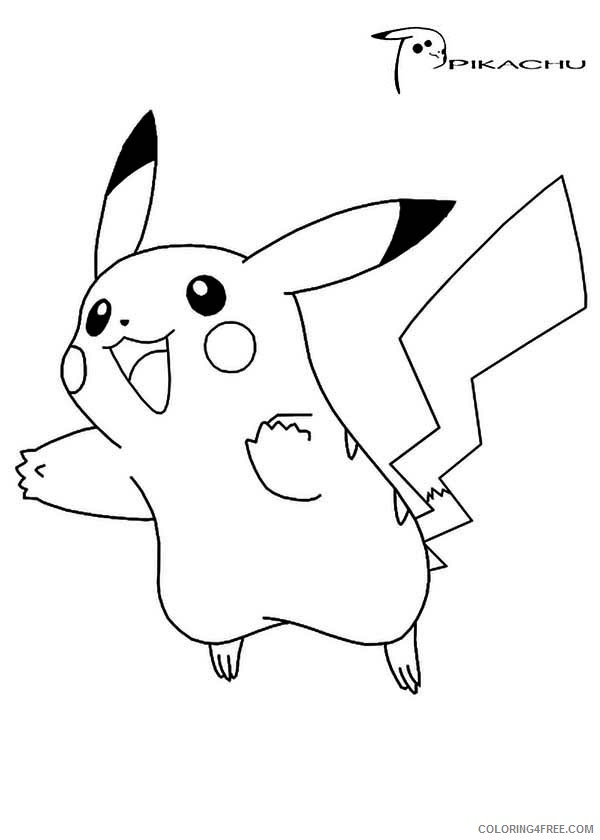 pikachu coloring pages jumping Coloring4free