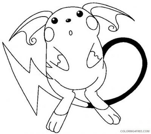 pikachu coloring pages raichu Coloring4free