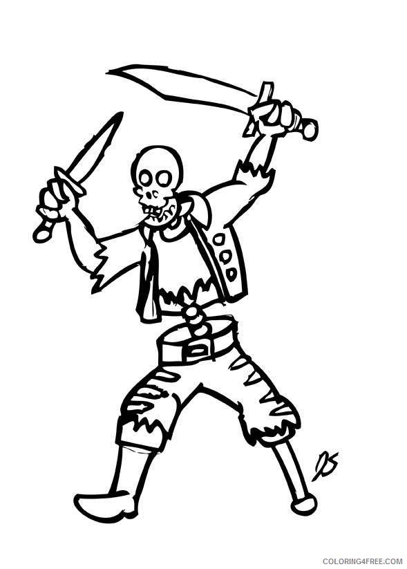 pirate skeleton coloring pages Coloring4free
