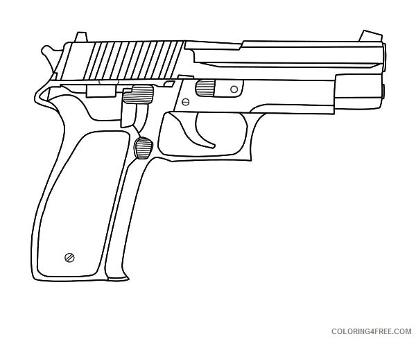 pistol gun coloring pages Coloring4free