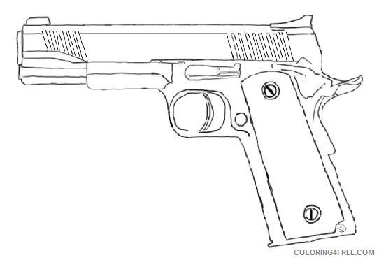 pistol gun coloring pages printable Coloring4free
