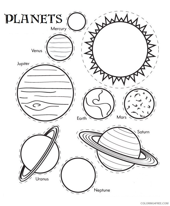 planet coloring pages solar system planets Coloring4free