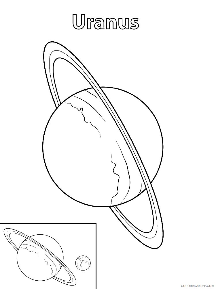 planet coloring pages uranus Coloring4free